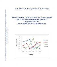 Обкладинка для Економічне оцінювання та управління діяльністю машинобудівного підприємства на основі зростання якості