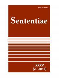 Обкладинка для Sententiae. Том XXXV.  № 2 - 2016