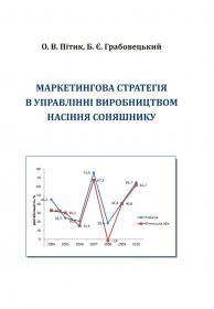Обкладинка для Маркетингова стратегія в управлінні виробництвом насіння соняшнику