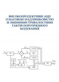 Обкладинка для Високопродуктивні АЦП із ваговою надлишковістю зі змінними тривалостями тактів порозрядного кодування