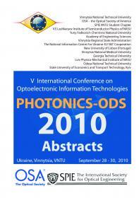 Обкладинка для Оптоелектронні інформаційні технології «Фотоніка ОДС– 2010»