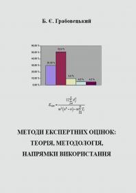 Обкладинка для Методи експертних оцінок: теорія, методологія, напрямки використання