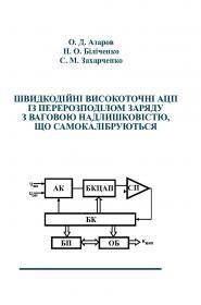 Обкладинка для Швидкодійні високоточні АЦП із перерозподілом заряду з ваговою надлишковістю, що самокалібруються