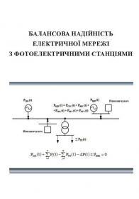 Обкладинка для Балансова надійність електричної мережі з фотоелектричними станціями