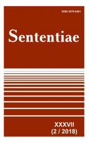 Обкладинка для Sententiae. Том XXXVII.  № 2 - 2018