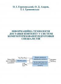 Обкладинка для Інформаційна технологія доставки контенту у системі комп'ютеризованої підготовки спеціалістів